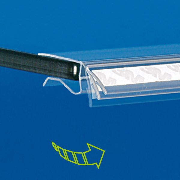 Picture of FLIP-UP SUPPORT WITH TAPE FOR SHELVES FROM 3 TO 10 MM THICKNESS