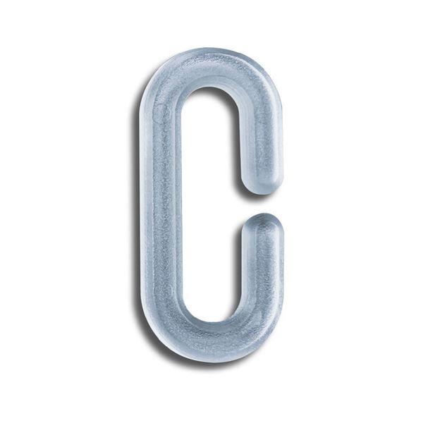 """Image sur CROCHET """"C"""" EN PLASTIQUE - H.40 MM"""